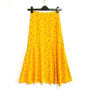 & Other Stories Asymmetrical Floral Midi Skirt, 4